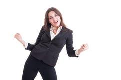 Lyckad affärskvinna, mäklare eller finansiell chef Royaltyfri Foto