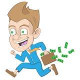 Lyckad affärsman Cartoon Royaltyfri Illustrationer