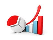 Lyckad finansaffärsgraf av vinst vektor illustrationer