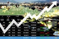 Lyckad finansiell investering för affär i fastighet Arkivfoton
