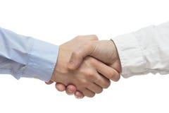 Lyckad handshaking för affärsfolk Royaltyfria Bilder