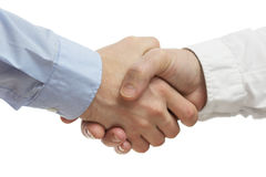 Lyckad handshaking för affärsfolk Royaltyfria Foton