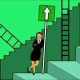 Lyckad kvinna stock illustrationer