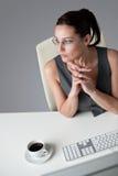 lyckad kvinna för affärskontor Arkivbild