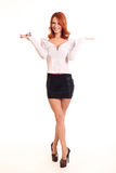 Lyckad ung affärskvinna Arkivfoton