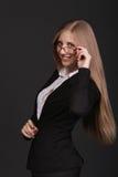 Lyckad ung affärskvinna royaltyfri bild