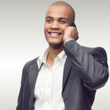 Lyckad ung afrikansk affärsman Arkivfoto