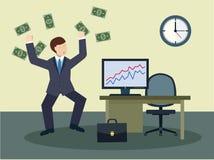 Lyckade affärsmän med stora pengar Royaltyfri Fotografi