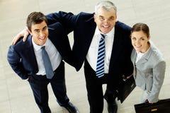 Lyckade chefer Arkivbild