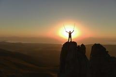 Lyckade klättrare bara Royaltyfri Bild