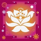 Lyckan och välstånd fjädrar läka yantra för blomma Royaltyfri Fotografi