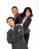 lyckat barn för businessteam Fotografering för Bildbyråer