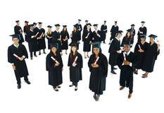 Lyckat begrepp för avläggande av examenprestationberöm Royaltyfri Bild