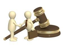 lyckat lagligt problem för beslut Arkivbild