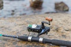 lyckat redskap för stor fiskespinner Royaltyfria Bilder