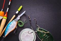 lyckat redskap för stor fiskespinner Arkivfoto