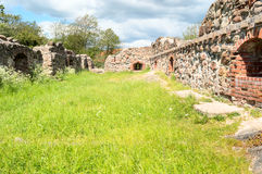 Lyckeby castle ruin Stock Photography