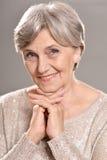 Lycklig äldre kvinna Arkivfoton