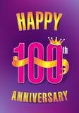Lycklig 100. årsdag vektor illustrationer
