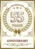 Lycklig årsdag av 55 år Royaltyfria Bilder