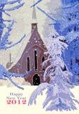 lycklig 2012 Arkivbilder