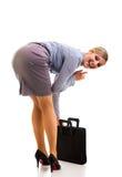 lycklig affärskvinna Arkivfoto