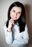 Lycklig affärskvinna Royaltyfria Foton