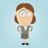 Lycklig affärskvinna stock illustrationer