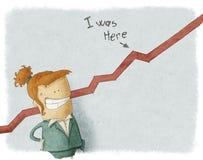 Lycklig affärskvinna Vektor Illustrationer