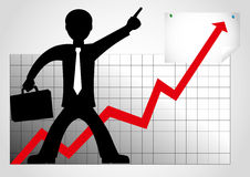 lycklig affärsman vektor illustrationer