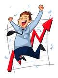 Lycklig affärsman Stock Illustrationer