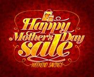 Lycklig affisch för försäljning för dag för moder` s Arkivfoto