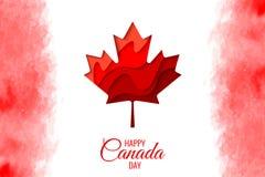 Lycklig affisch för ferie för Kanada dagvektor vektor illustrationer