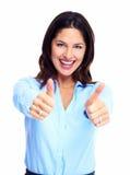 Lycklig affärskvinna. Royaltyfria Bilder