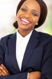 Lycklig afrikansk affärskvinna Arkivfoton