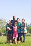 lycklig afrikansk familj Arkivfoton