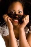 lycklig afrikansk flicka mycket royaltyfri bild