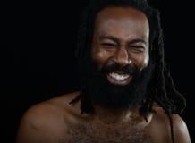 Lycklig afro man royaltyfri fotografi