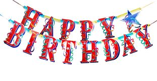 lycklig alfabetfödelsedag Arkivbilder