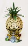 lycklig ananas royaltyfri fotografi
