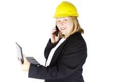 lycklig arbetare för konstruktion Royaltyfria Foton
