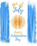 Lycklig Argentina självständighetsdagen 9th Juli stock illustrationer