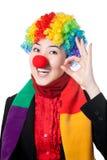 lycklig asiatisk clown Arkivbild