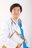 lycklig asiatisk doktor Royaltyfri Fotografi