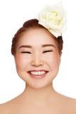 lycklig asiatisk flicka arkivbilder