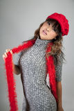 lycklig asiatisk flicka Royaltyfria Foton