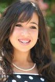 lycklig asiatisk flicka Arkivfoto