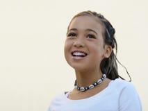 lycklig asiatisk flicka arkivfoton