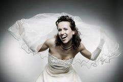 lycklig attraktiv brud Royaltyfri Bild
