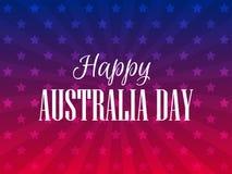 Lycklig Australien dag 26 januari Festlig bakgrund för baner och affischer vektor stock illustrationer